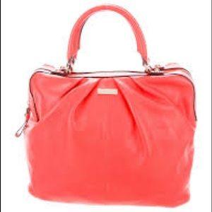 Kate Spade Coral Red Shoulder Handbag Medium